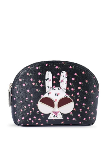 kate spade new york multi Money Bunny Small Cosmetic Pouch (cv) 1EA3FAC68DA6B9GS_1