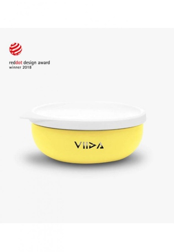 Viida [VIIDA] The Soufflé Kids Antibacterial Stainless Steel Bowl with Lid 430ml/14.5 oz , Lemon Yellow - Eco-Friendly - Safe - FDA Certified - SGS Tested 9281EHL75642C2GS_1