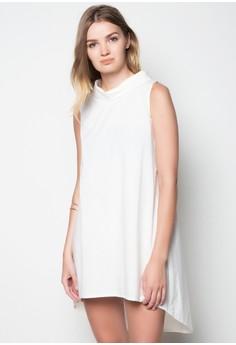 Turtleneck Long Back Dress