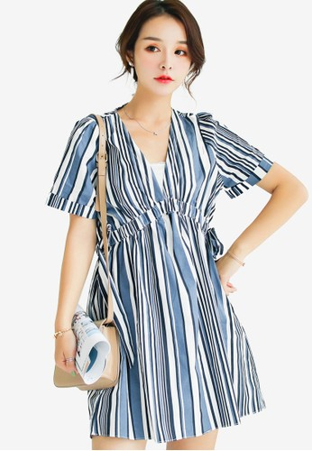 Shopsfashion blue Dolly Dress 6DF9BAA527D60BGS_1