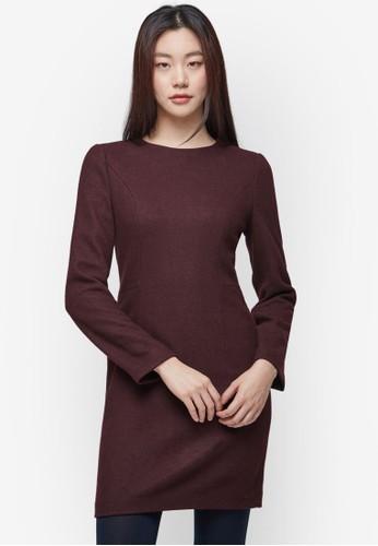 羊毛混紡長袖zalora 泳衣連身裙, 服飾, 洋裝