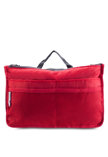 Bagstationz red Bagstationz Premium Lightweight and Water-Resistant Multi-Compartment Bag-In-Bag Organizer BA607AC44TJJMY_1