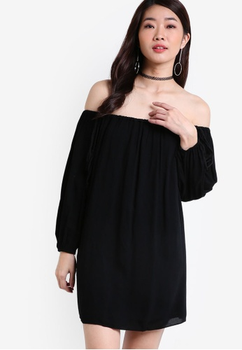 ZALORA black Collection Casual Off Shoulder Dress 7EA23AA72AE80EGS_1