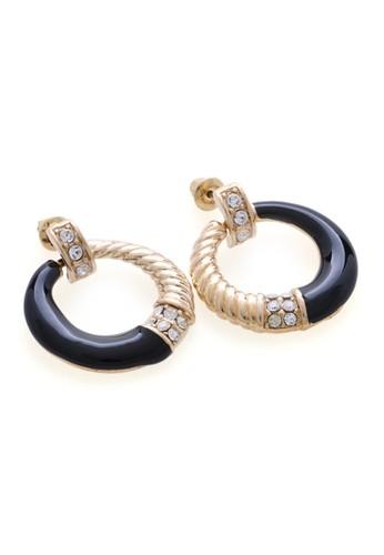 1901 Jewelry black 1901 Jewelry Circle Earring 4837 19910AC23NWUID_1
