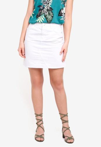 Dorothy Perkins 白色 White Rework Denim Mini Skirt C195DAA1B2D5DEGS_1