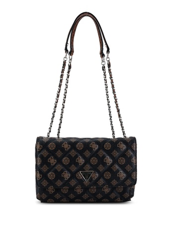 Guess brown Cessily Convertible Flap Crossbody Bag 0A461AC1800C43GS_1