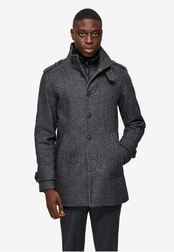 Selected Homme grey Noah Wool Coat 4BCB2AA55D4788GS_1