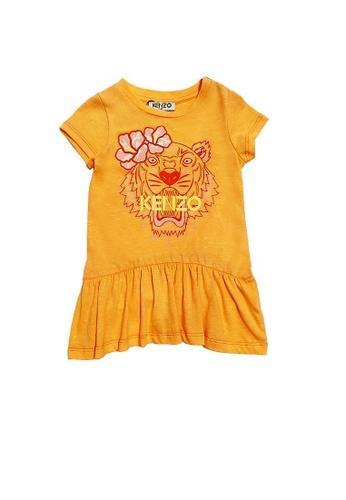 KENZO KIDS orange KENZO TIGER BABY GIRLS DRESS 962B0KAC5FDBD6GS_1