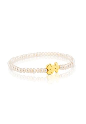 Tous TOUS 18KT Gold Sweet Dolls Cult Pearls Bracelet (Item Code: 015901010) 3734FACC534E43GS_1
