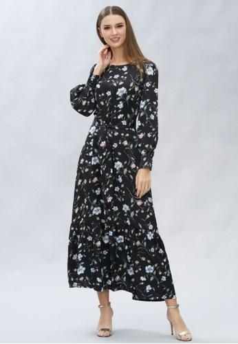 Loveaisyah multi Long Sleeves Floral Maxi Dress 2A189AAF115941GS_1
