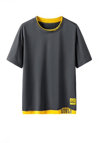 Twenty Eight Shoes grey VANSA Fashion Short Sleeve Tee Shirt VCM-T2170 01189AABA1ED9EGS_1