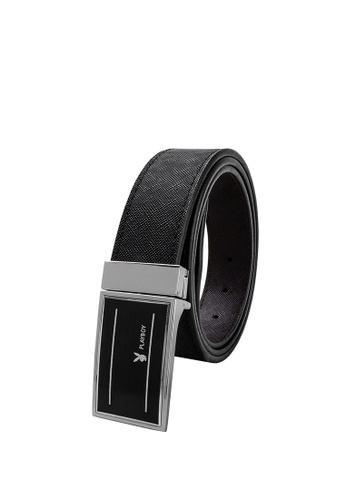 Playboy 黑色 35mm Reversible Belt 5D817ACA593456GS_1