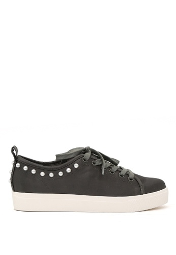 London Rag grey Grey Pearl Lace Up Sneakers 5B5B5SH7341900GS_1