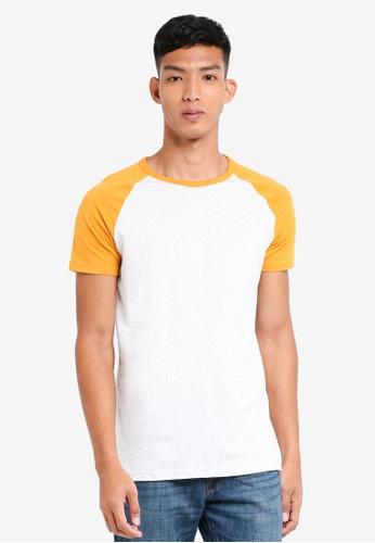 Burton Menswear London 黃色 撞色短袖T恤 9C611AAD6F6701GS_1