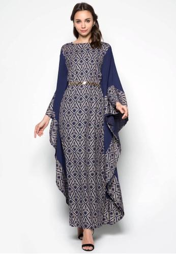 Geometric Foil Print Kaftan, 服飾, 服zalora 心得飾