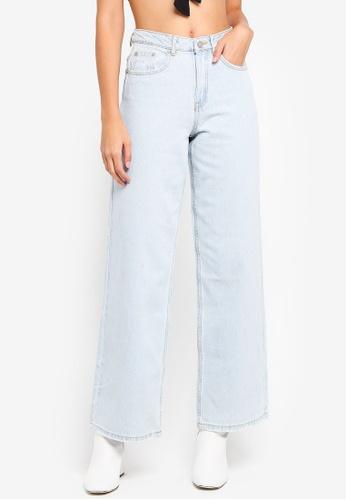 603d2361871 Buy MISSGUIDED High Rise Full Length Wide Leg Jeans Online on ZALORA ...