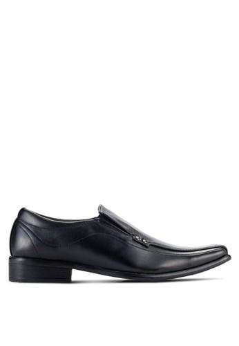 UniqTee black Hardware Detail Slip On Shoes UN097SH92NQHMY_1