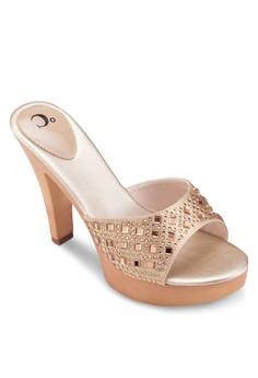 Slip On Studded Heels