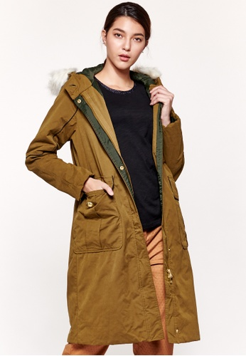 Sisley green Oversized Fit Parka with Hood ACCEAAAA393AA8GS_1
