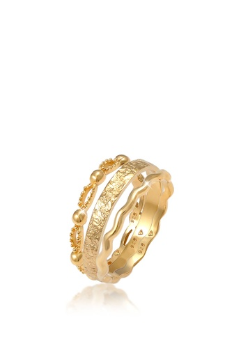 ELLI GERMANY gold Woman Band Rings Ball Gold Plated Ring 72DB2ACB5642B2GS_1