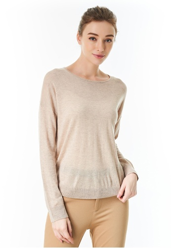 United Colors of Benetton brown Cashmere Blend Crew Neck Sweater E3586AA1414868GS_1