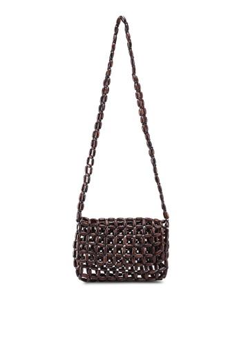 e55742c5462 Beaded Wood Handbag