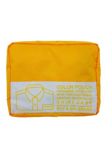 ROY & BIV yellow Shirt Case Travel Pouch (Yellow) RO781AC30TAFPH_1