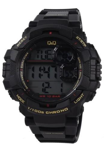 Q&Q black Q&Q - Jam Tangan Pria - Black - Resin Strap - M143J009Y 3E7F4AC8EFEDC8GS_1