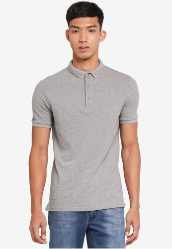 Superdry grey City S/s Pique Polo 78537AA1EE65CBGS_1