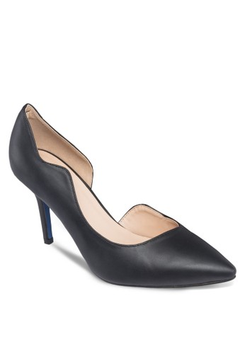 Side Wave Heel with Contrast Base, 女鞋, 厚zalora 包包 ptt底高跟鞋