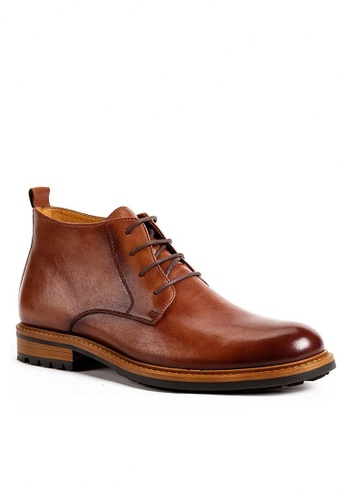 Twenty Eight Shoes Vintage Amber Leather Brogue Boot G03-8 768A1SHF9FBA62GS_1