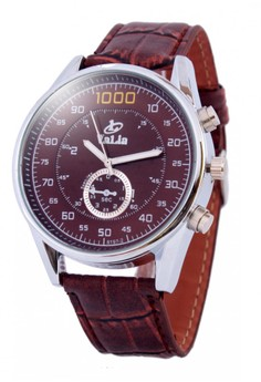 Valia Wesley Leather Strap Watch 8197-2