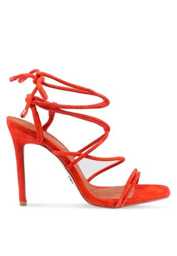 TOPSHOP 紅色 繞帶高跟涼鞋 90D72SHFC179EEGS_1