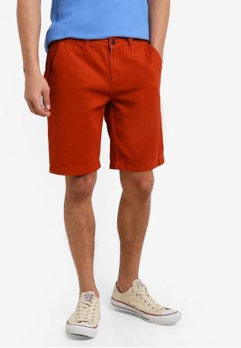 UniqTee 橘色 Bermuda Shorts With Half Elastic Waistband UN097AA0RFUDMY_1