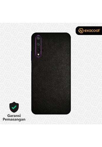 Exacoat Huawei Nova 5T 3M Skins Leather Series - Leather Black 102CDES27383A5GS_1