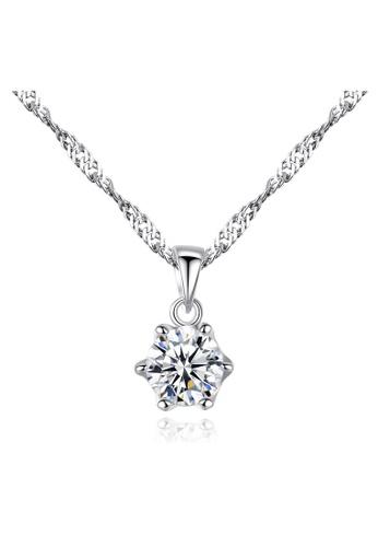 SUNRAIS silver Premium Silver S925 Silver Simple Design Necklace 14420AC011942FGS_1