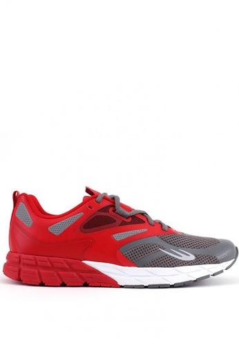 World Balance red Stealth Runner Men's Running Shoes ED145SH8A29313GS_1