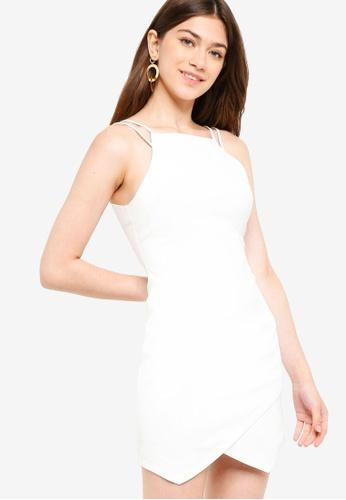 Something Borrowed white Strappy Bodycon Mini Dress 5D84DAACB72AD3GS_1