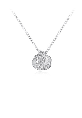 Glamorousky silver Creative Twisted Rope Pendant with Necklace 33F5EACAE1E9B0GS_1