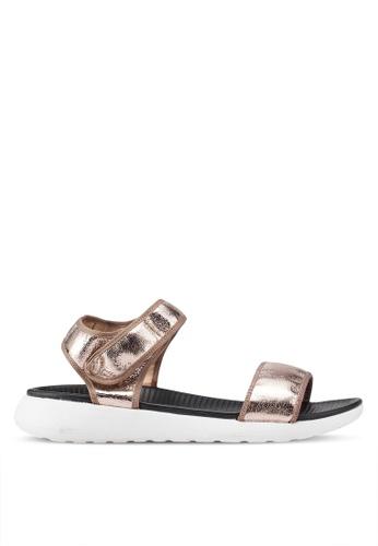 Carlton London 金色 鉚釘金屬感涼鞋 A1AD7SH324B9E6GS_1