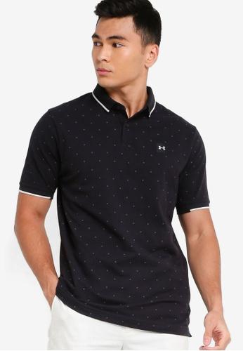 Under Armour black UA Ace Novelty Polo Shirt 93279AAFE12078GS_1