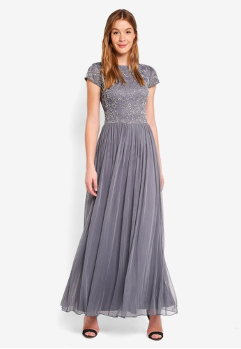 Frock And Frill Grey Embellished Dress 786c9aa5a2a35ags 1