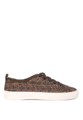 London Rag 米褐色 LONDON RAG 女式咖啡色系带运动鞋 E390CSH39516E5GS_1