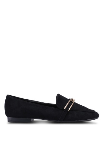 Something Borrowed black Slip On Loafer Flats 031FBSH31B9057GS_1