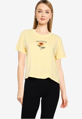 Hollister yellow Casual Tee B980EAA045DB8AGS_1