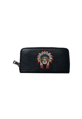 Lara 黑色 男士簡約皮革錢包 - 黑色 - 印第安 0BEF5ACB08304FGS_1