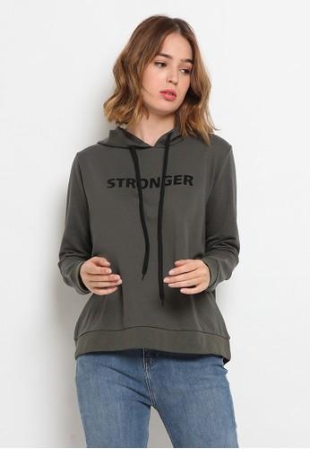 The Executive green Long Sleeve Hoodies Sweatshirt 67872AA7513B75GS_1