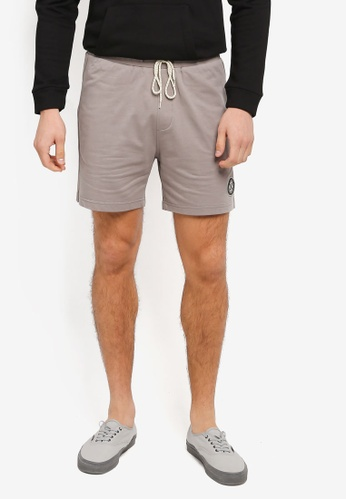 JAXON grey Washed Colour Terry Shorts 1F22BAA46D9F97GS_1