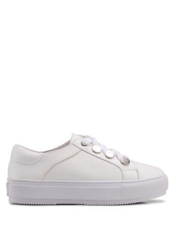 Carlton London white Sneakers With Metallic Detail 23199SHCA69F9AGS_1