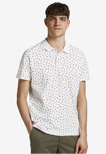 Jack & Jones white All Over Printed Polo Shirt E47F2AACFE9BB4GS_1